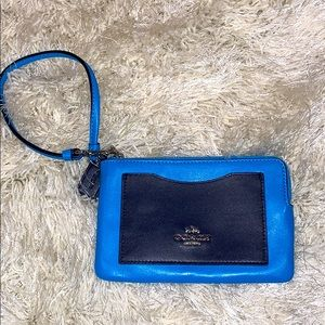 Coach Blue and Black Wristlet